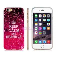 iPhone 6 gumový kryt KEEP CALM AND SPARKLE