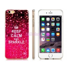 iPhone 6 Plus gumový kryt KEEP CALM AND SPARKLE - SKLADEM
