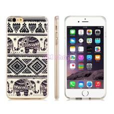 iPhone 6 Plus gumový kryt Elephant Pattern - SKLADEM