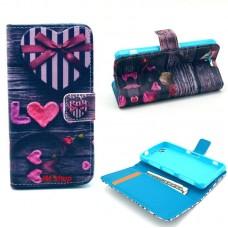 Motorola Moto E kožený obal Love Heart