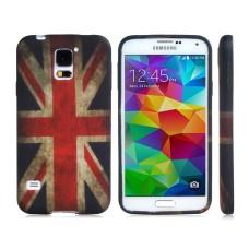Pouzdro gumové Samsung Galaxy S5 I9600 UK Flag - SKLADEM