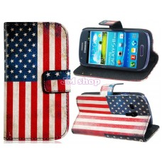 Obal na Samsung Galaxy S3 Mini USA Flag - SKLADEM