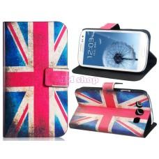 Kožený obal na Samsung Galaxy S3 I9300 UK Flag - SKLADEM