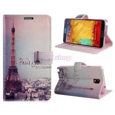 Samsung Galaxy Note 3 kožený obal Eiffel Tower - SKLADEM