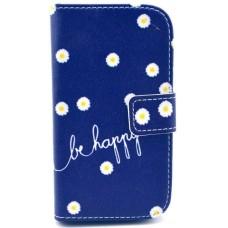 Pouzdro iPhone 4/ 4S kožené Be Happy Flower - SKLADEM