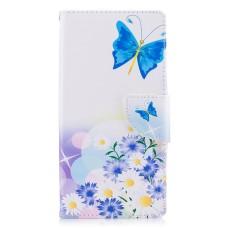 Sony Xperia XZ kožený obal Flying Blue Butterflies - SKLADEM