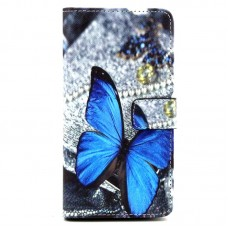 Samsung Galaxy S6 Edge Plus kožený obal Blue Butterfly