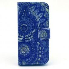 Samsung Galaxy Trend /S Duos kožený obal Blue Peacock