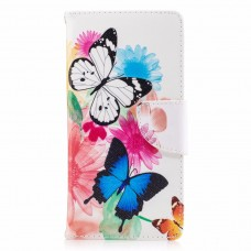 Sony Xperia XA1 kožený obal Butterflies