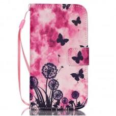 iPhone 5C kožený obal Butterfly Dandelions