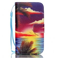 iPhone 5C kožený obal Coconut Tree
