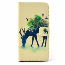 LG G3S kožený obal Deer and Tree