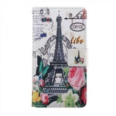 HUAWEI Ascend Y550 kožený obal Eiffel Tower