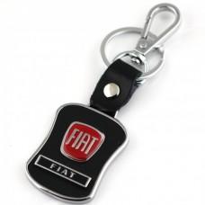 Přívěsek na klíče s karabinou Fiat červený - SKLADEM