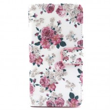 LG G3 kožený obal Floral