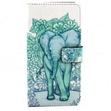 iPhone 7 kožený obal Flower Elephant