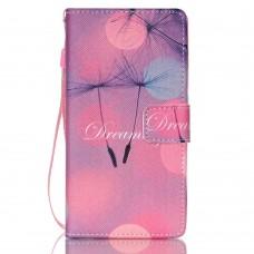 iPhone 5C kožený obal Flying Dandelions