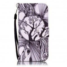 Sony Xperia E5 kožený obal Grey Tree
