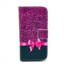 Samsung Galaxy A3 kožený obal Leopard Bow