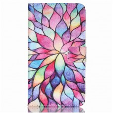 Pouzdro HTC Desire 626 kožené Colorful daffodils