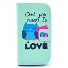 HUAWEI Ascend Y300 kožený obal Loving Owls