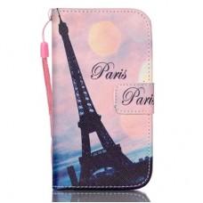 Samsung Galaxy S5 kožený obal Paris Eiffel Tower