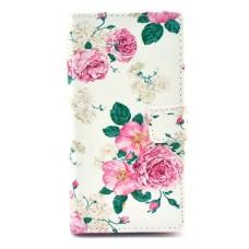 iPhone 6 Plus kožený obal Penoy Flower - SKLADEM