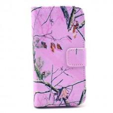 Pouzdro HTC Desire 500 kožené Pink Dry
