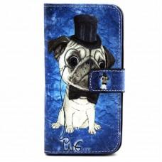 iPhone 7 kožený obal Pug Dog