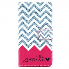 iPhone 7 kožený obal Ripple smile
