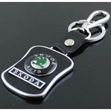 Přívěsek na klíče s karabinou Škoda - SKLADEM