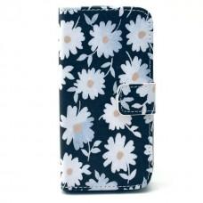 Samsung Galaxy Core kožený obal Black Flower