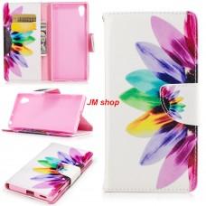 Sony Xperia XZS kožený obal Colorful Flower